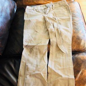Ann Taylor Petite Lindsay Pants Tan SZ 2P